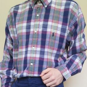Ralph Lauren Multi-Colored Plaid Buttoned Shirt